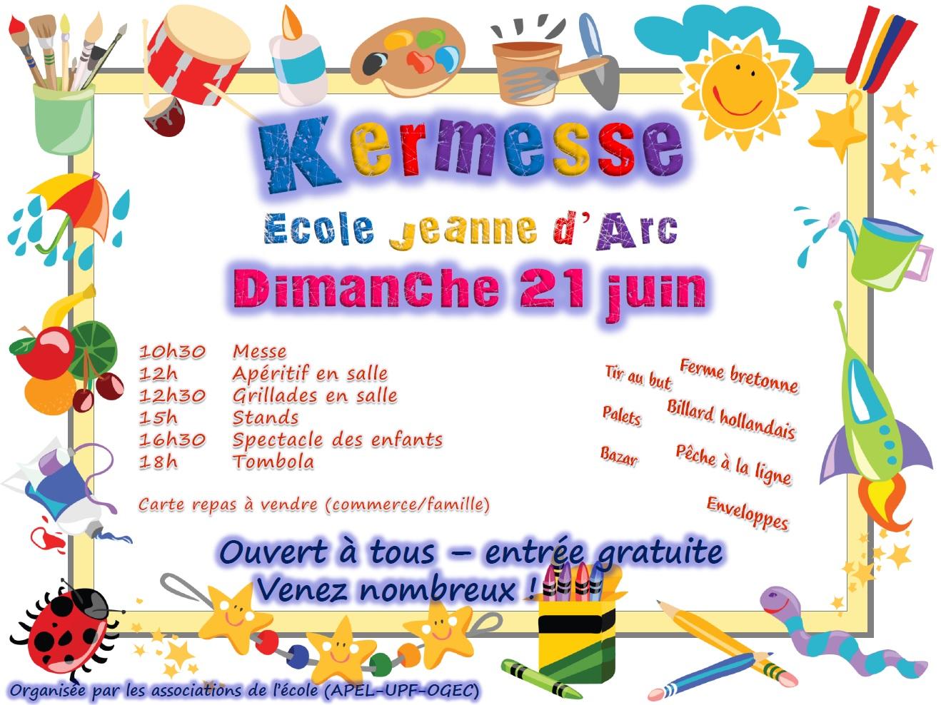 Extrêmement Kermesse de l'école Jeanne d'Arc Saint-Barnabé - École Jeanne d  MV08